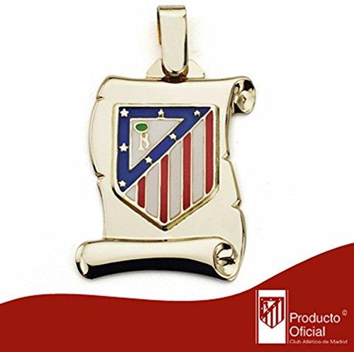Parchemin pendentif Atletico Madrid de loi bouclier 9k or big [AA1897GR] - personnalisable - ENREGISTREMENT inclus dans le prix