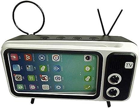 Altavoz Bluetooth TV Retro, 8 Horas De Reproducción La Señal Bluetooth 5.0 Es Más Estable Altavoz Inalámbrico Mini Radio Portátil Compatible con TF USB Marrón: Amazon.es: Deportes y aire libre