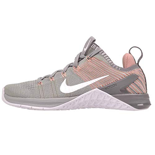 NIKE Metcon DSX Flyknit 2 Womens Running Shoes Matte Silver/White-rust Pink