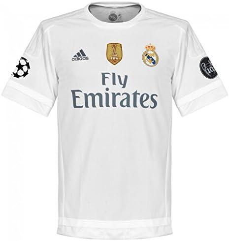 Adidas H JSY UWC - Camiseta 1ª Equipación Real Madrid, Color Blanco / Gris, Talla S: Amazon.es: Zapatos y complementos