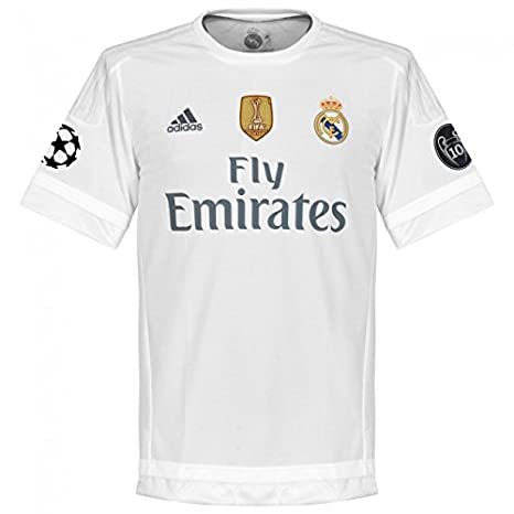 promo code c7c05 31b68 Amazon.com : Real Madrid Home Champions League Jersey 2015 ...