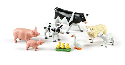 (Learning Resources Jumbo Farm Animals: Mommas and Babies Toy Set, 8)