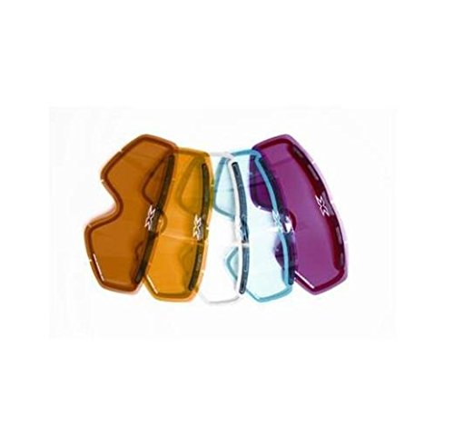 Snowmobile Eyewear Accessories - EKS Brand GOX Dual Pane Vented Adult Replacement Lens Snocross Snowmobile Eyewear Accessories - Blue / One Size