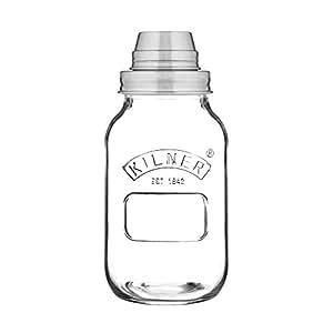 Kilner Glassware Cocktail Shaker, 34-Fluid Ounces