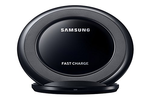 Samsung Qi Certified Fast Charge Wireless Charging Stand W/ AFC Wall Charger - Black