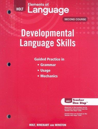 Elements of Language: Developmental Language Skills Grade 8