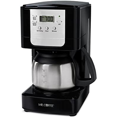 Mr. Coffee JWX3 5-Cup Programmable Coffeemaker, Black