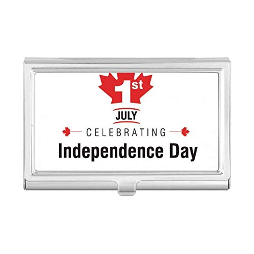 Canada Independence Day Maple Leaf Flag Business Card Holder Case Wallet
