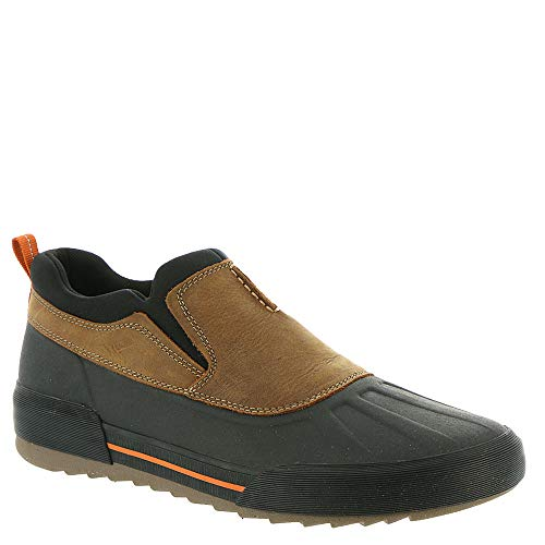 CLARKS Men's Bowman Free Rain Shoe, Dark tan Leather, 140 M US (Waterproof Shoes Garden)