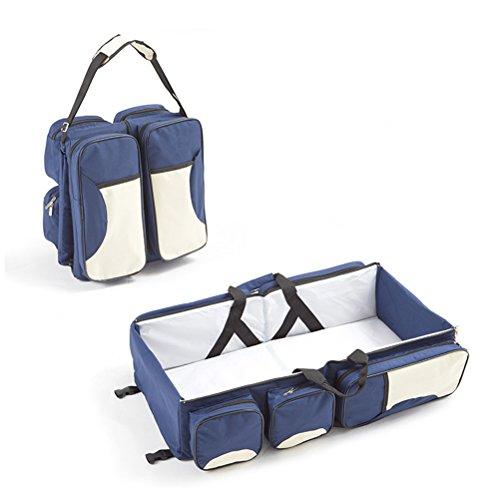 odowalker bolsa de pañales portátil bassinet bolso para bebé plegable 3en 1con sábana bajera ajustable de hombro bolsa bolsa de mamá 0–�?5meses años niños rosa rosa azul oscuro