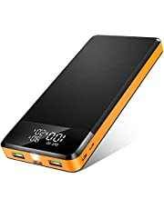 Portable Charger, 26800mAh 18W PD3.0 USB C Fast Charging Power Bank, High Capacity Battery Pack with 3 Input & 3 Output, LED Display, Flashlight, Compatible with Smartphone Tablet Headset and More
