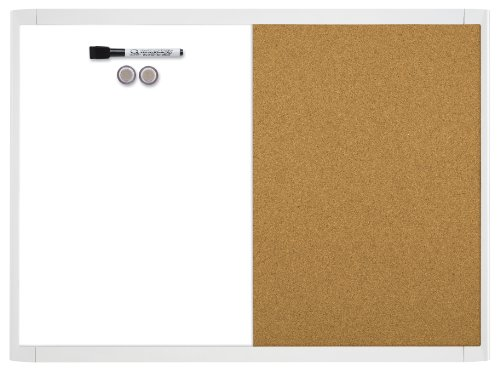 Quartet Magnetic Whiteboard Corkboard 21 580653Q WT product image
