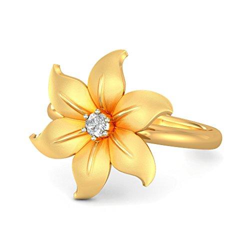 14K Or jaune, 0.07carat Diamant Blanc (IJ   SI) en diamant