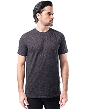 Men's Marl Modern Slim Fit Short Sleeve Tee Shirt