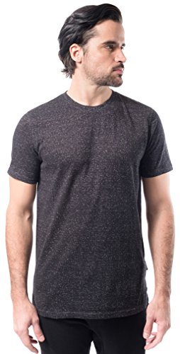 Brooklyn Athletics Men's Marl Modern Slim Fit Short Sleeve Tee Shirt, Onyx, ()
