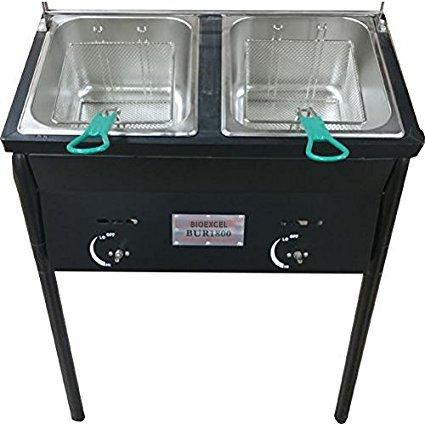 double basket outdoor fryer - 1