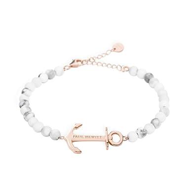 779846c97f PAUL HEWITT Armkette Damen Anchor Spirit Marble aus Edelstahl IP Roségold  mit Anker und Perlen in