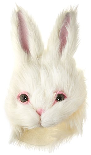 HMS Furry Bunny Mask, White, One Size -