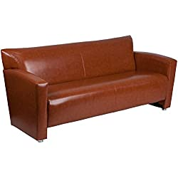 Flash Furniture HERCULES Majesty Series Cognac Leather Sofa