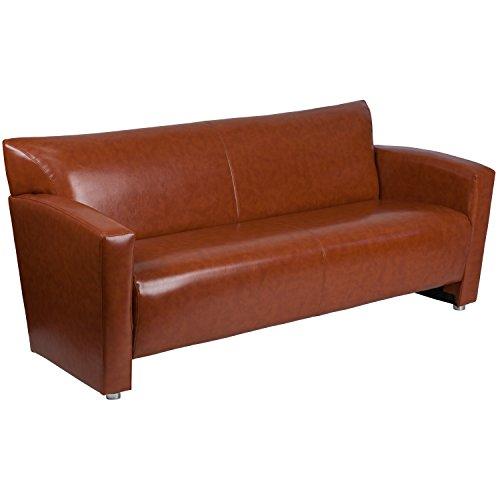 Flash Furniture HERCULES Majesty Series Cognac Leather Sofa