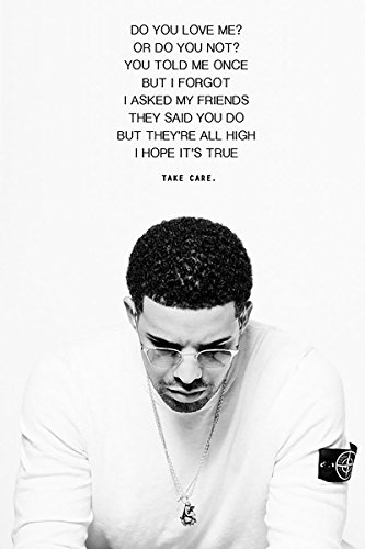 "Drake Quote Poster 24x36 ""DO YOU LOVE ME? OR DO YOU NOT? YOU"