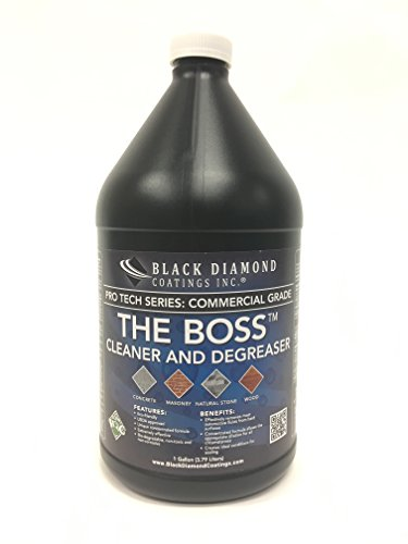 Stain Remove Masonry (The BOSS Cleaner and Degreaser for Concrete, Masonry, Natural Stone and Wood. Black Diamond Coatings Stain Remover (1 Gallon))