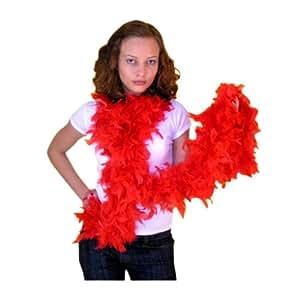 Boa de plumas de color rojo Disfraz Accesorios Disfraces Carnaval