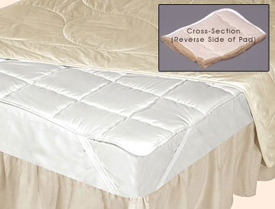 DownTown Company, Silk Filled Mattress Pad, Protector, Topper, King Size