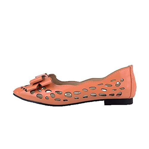 FBUIDD006778 Tirare Basso Donna AllhqFashion Arrancio Solid Tacco Flats Ballet n0qvIBwfC