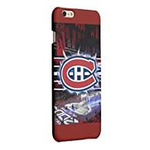 CHICEXP Ultra Thin Montreal Canadiens iPhone 6/6s Case Cover -with Tempered Glass Screen Protector