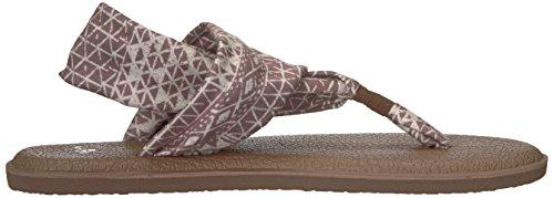 2 Femme Folk Prints Yoga Ojai Tongs Deep Sanuk Sling Taupe XTfx1n