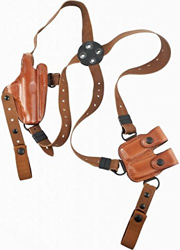 Bianchi X16 Agent X Shoulder Holster - Unlined - Plain Tan, Right Hand - Walther PP,PPK,PPK/S -