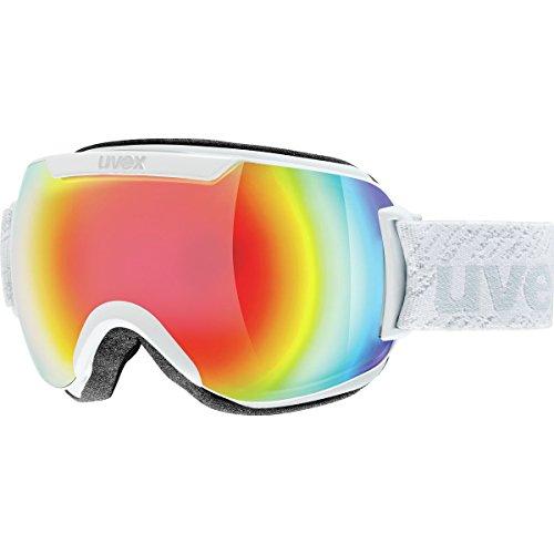 Uvex Downhill 2000 Full Mirror Goggle White Matte/Mirror Rainbow/Rose (S3), One Size