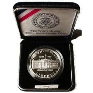 1992 W White House 200th Anniversary Comes in US Mint Packaging Dollar Proof US Mint (1992 White House 200th Anniversary Proof Silver Dollar)
