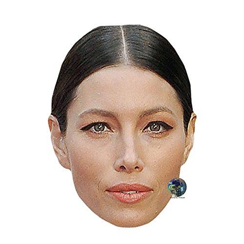 Jessica Biel Celebrity Mask, Card Face and Fancy Dress Mask