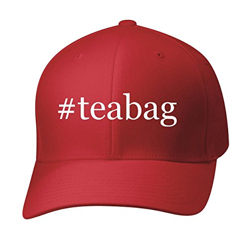 BH Cool Designs #teabag - Baseball Hat Cap Adult, Red, Large/X-Large