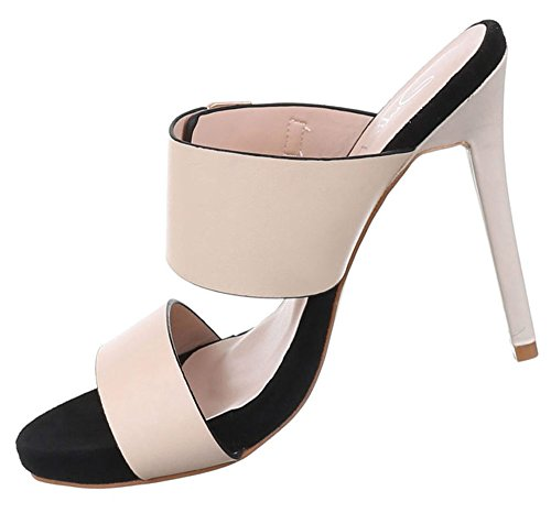 Damen Sandaletten Schuhe High Heels Stiletto Abendschuhe Business Club Pumps schwarz gold rosa rot 35 36 37 38 39 40 Pink