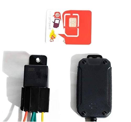 Power Sports and Other vehacles Sykik Rider GPS Tracker with one Year pre-Paid 4G SIM Card for Motorcycles