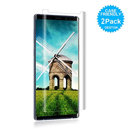 [2Pack] Loopilops Samsung Galaxy Note 9 Screen Protector [9H Hardness][Anti-Scratch][Anti-Bubble][3D Curved] [High Definition] Tempered Glass Screen Protector Compatible with Samsung Galaxy Note 9