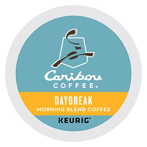 Caribou Coffee Daybreak Morning Blend Keurig One-Serve K-Cup Pod, Light Roast Coffee, 24 Count