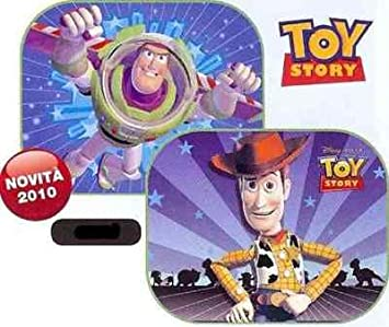 DISNEY TOY STORY, WOODY E BUZZ LIGHTYEAR, TENDINE per AUTO! SonCar