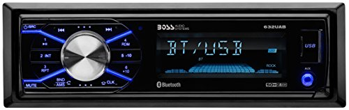 BOSS Audio 632UAB Car Stereo - Single Din, Bluetooth, (No CD/DVD) MP3/USB/WMA AM/FM Radio, Detachable Front Panel - 1956 Ford F-350 Pickup