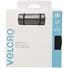 VELCRO Brand 91372 Double-Sided, Self Gripping Multi-Purpose Hook and Loop Tape, Reusable, 30-Feet x 1 1/2-Inch, Black