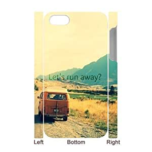 Customized Durable Case for Iphone 4,4S 3D, Let's Run Away Phone Case - HL-713621