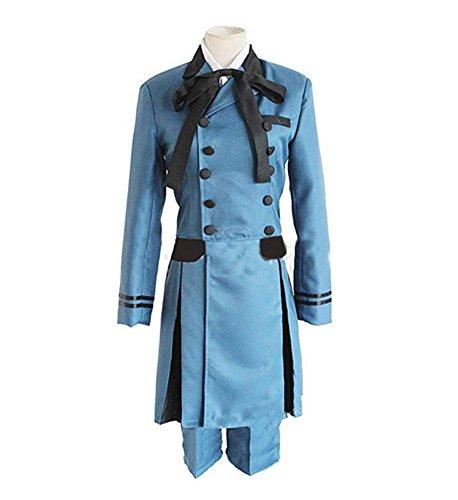 Yunbei Ciel Phantomhive Cosplay Costume Halloween Blue Uniform Full Set (M, Blue)]()