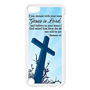 diycover Ipod Touch 5th Case - Bible Verse - Romans 10:9 - Hard Case Cover Protector Gift Idea