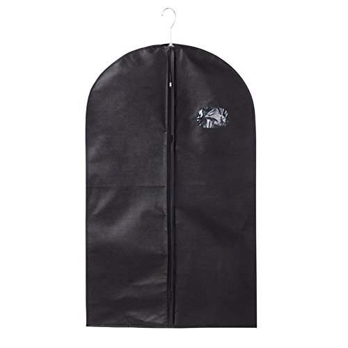[Yamde 1Pcs black Breathable Garment Bag 40 Inch Dress / Garment Cover - Full Zip] (Rolling Dance Costumes Carrier)