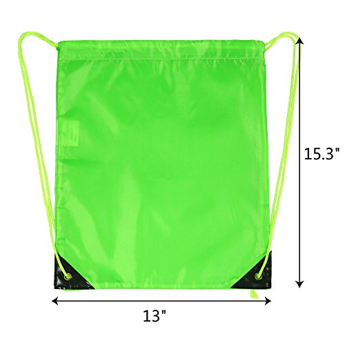 Drawstring Bags Bulk for Kids Boys Girls Party Favors Bags Gym Drawstring Backpacks Cinch Bags 10 Pack by BeeTravel (Image #6)