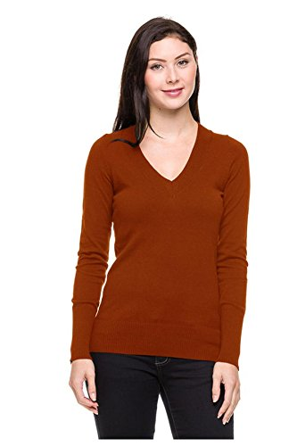 G2 Chic Women's Long Sleeve Thermal Solid Color Basic Sweater Top(TOP-SHT,RED-L)