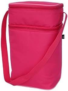 J.L. Childress 6 Bottle Cooler Tote Bag, Pink/Light Pink Color Pink/Light Pink, Model: 3105PP, Newborn & Baby Supply